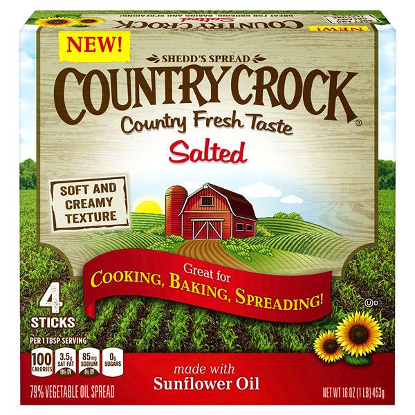Country Crock Salted Buttery Sticks 16 Oz