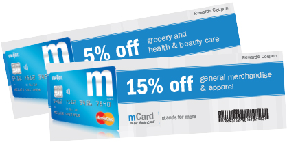 mCard reward coupons