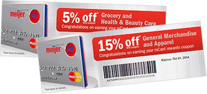 mCard reward coupons
