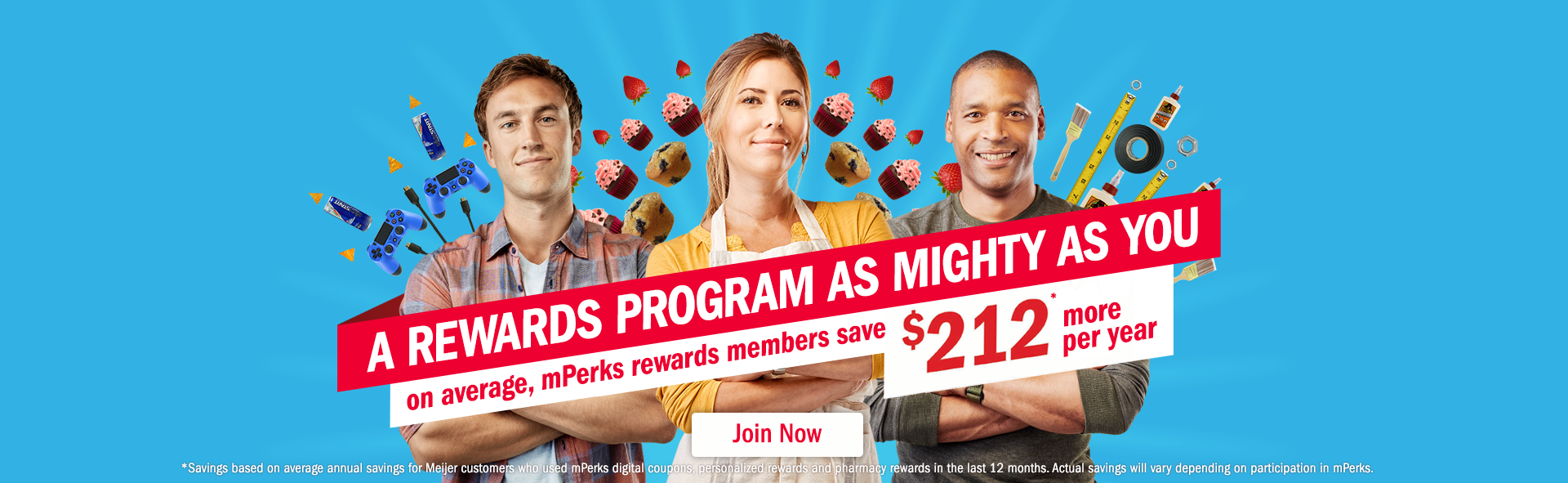 A rewards program as mighty as you. on average, mperks rewards members save $212 more per year.
