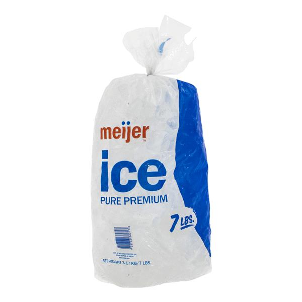 Meijer Bagged Ice 7 Lbs