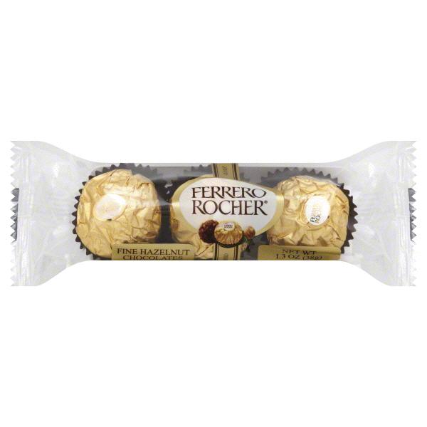 Ferrero Rocher Single Hazelnut Chocolate 3 Piece