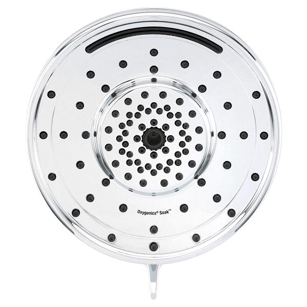 Oxygenics Soak 5 Setting Chrome Rain Shower Head Meijer Com
