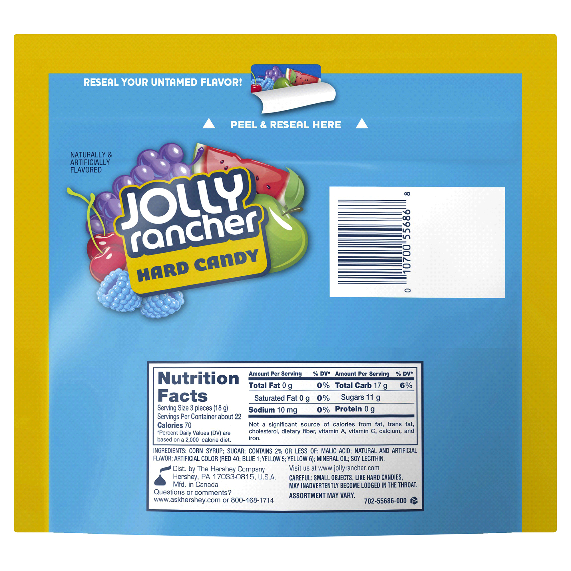 Jolly Rancher Original Hard Candy in Assorted Fruit Flavors 14 oz ...