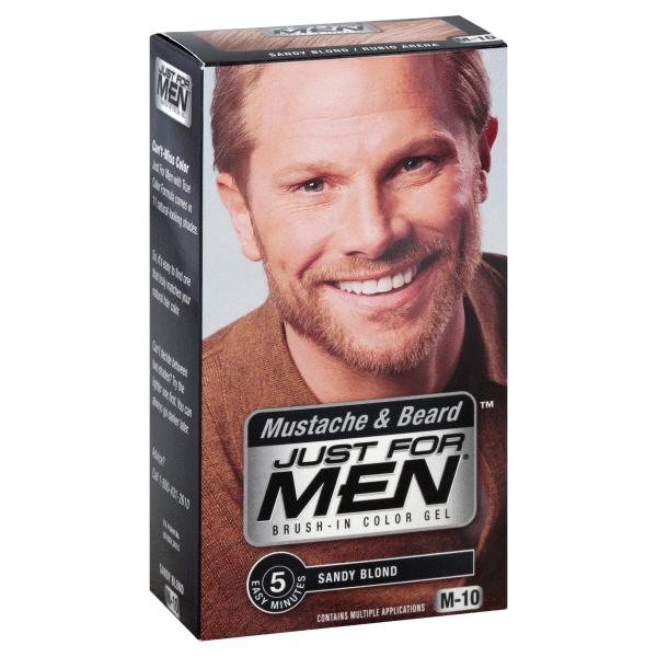 Just For Men Mustard & Beard Brush-In Color Gel Sandy Blond M-10 ...