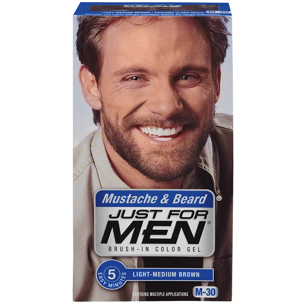 Just For Men Mustache & Beard Light Medium Brown M-30 | Meijer.com