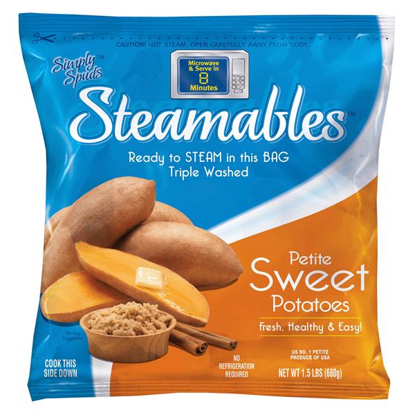 Simply Spuds Steamables Pee Sweet Potatoes 24 Oz