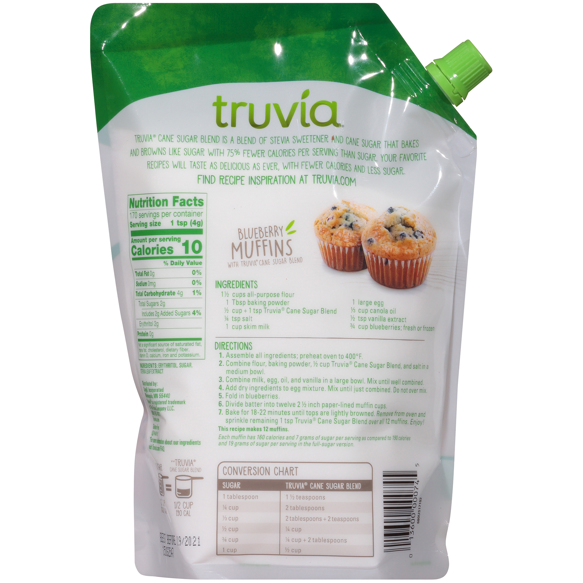 Truvia Cane Sugar Baking Blend With Sugar 15 Lbs Meijer
