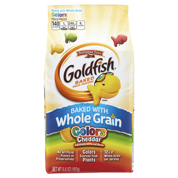 Pepperidge Farm Goldfish Colors Cheddar Whole Grain Baked Snack Ers 6 Oz Bag