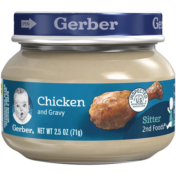 Gerber 2nd Foods Chicken Chicken Gravy 25 Oz Meijer