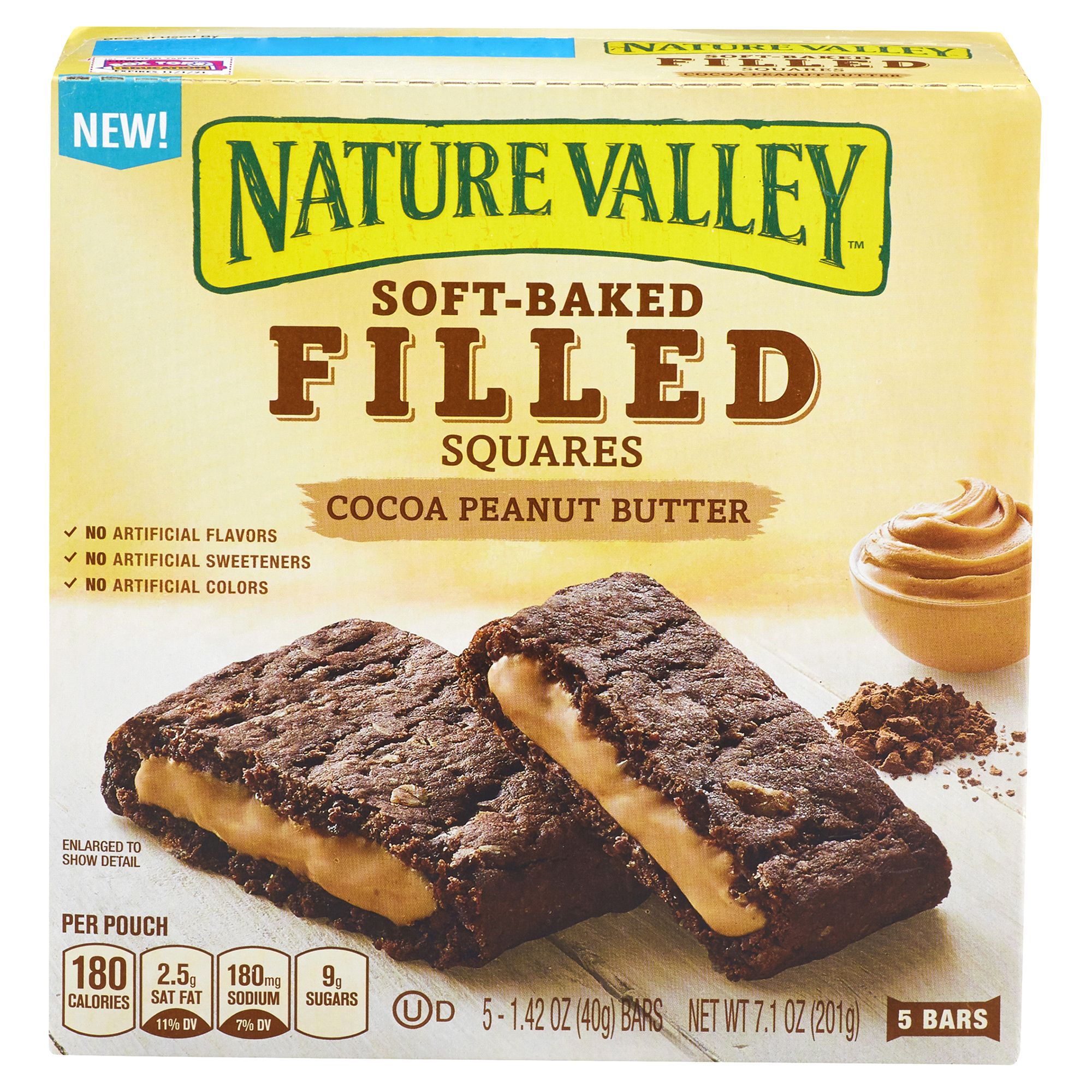 Nature Valley Soft Baked Filled Squares Cocoa Peanut Butter 5 x 1 42