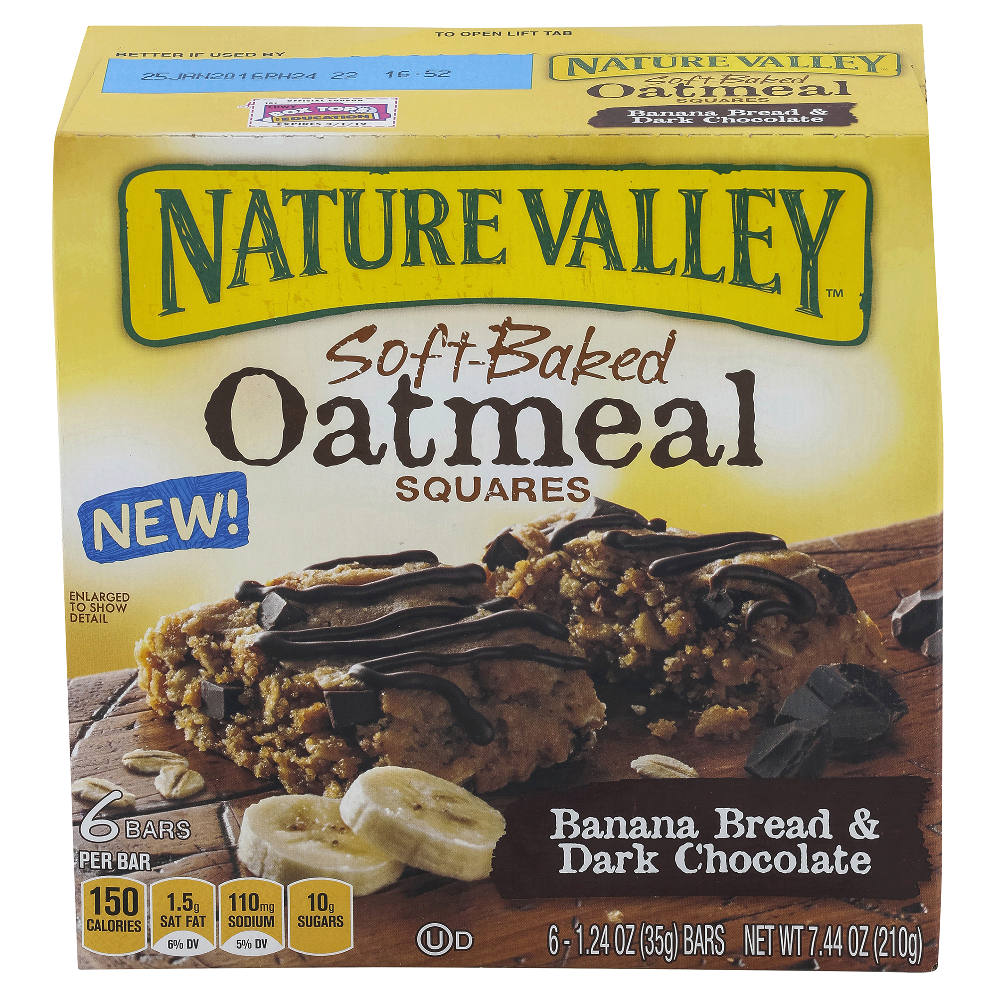 Natural Valley Soft Baked Oatmeal Squares Banana Bread & Dark