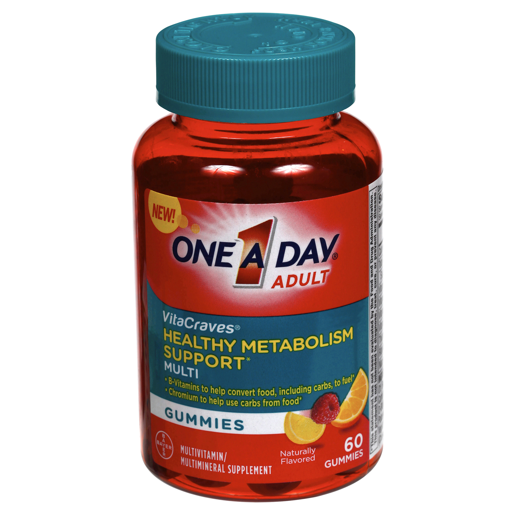 One A Day Adult Vitacraves Helathy Metabolism Support Gummies 60 Curcuma Rmulsion Blackcurrant Flavour Count