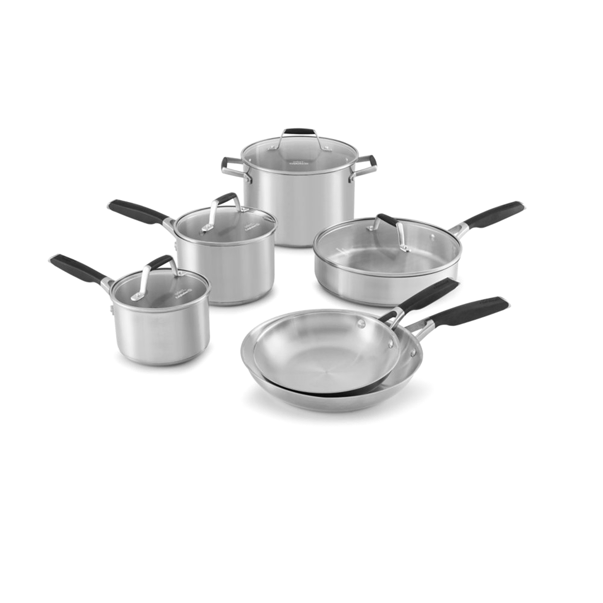 Select by Calphalon Stainless Steel 10 Piece Cookware Set | Meijer.com