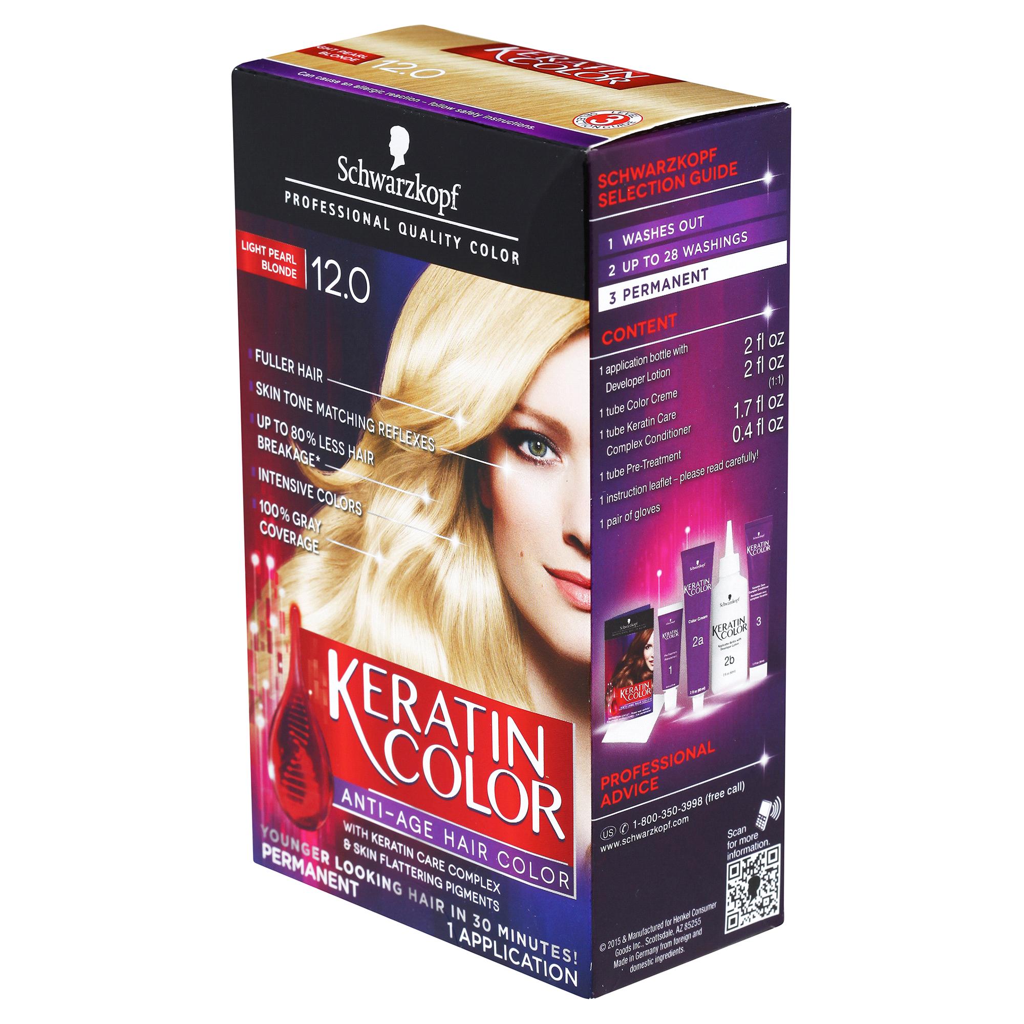 Schwarzkopf Keratin Color Anti Age Hair Color 120 Light Pearl