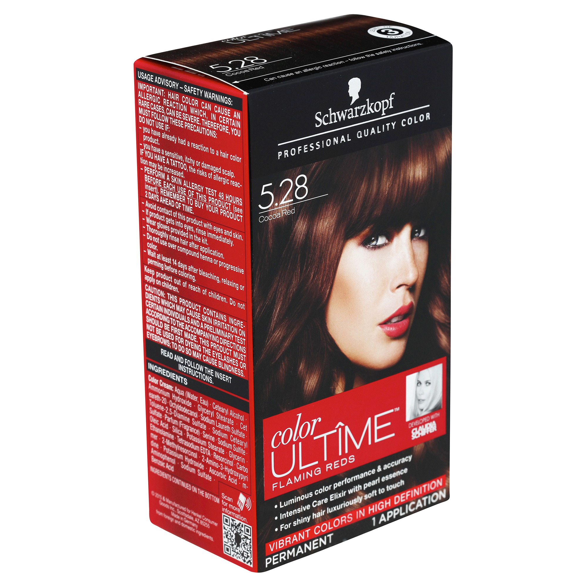 Schwarzkopf Color Ultime Flaming Reds Permanent Hair Color 528 Cocoa