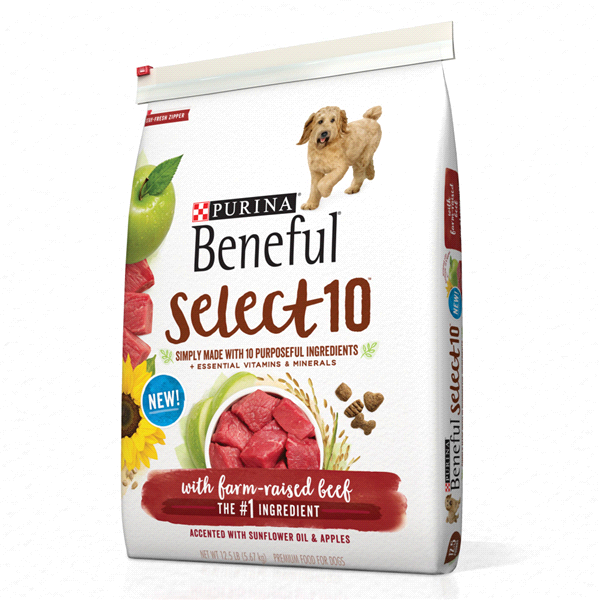 Purina Beneful Select 10 With Farm Raised Beef Adult Dry Dog Food