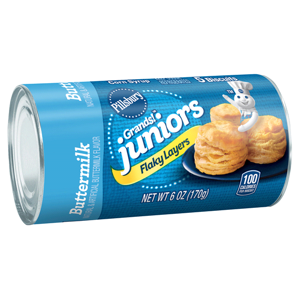 Pillsbury Grands Juniors Flaky Layers Buttermilk Biscuits 6 Oz Can