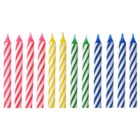 Colorful Striped Spiral Birthday Candles 12 Ct