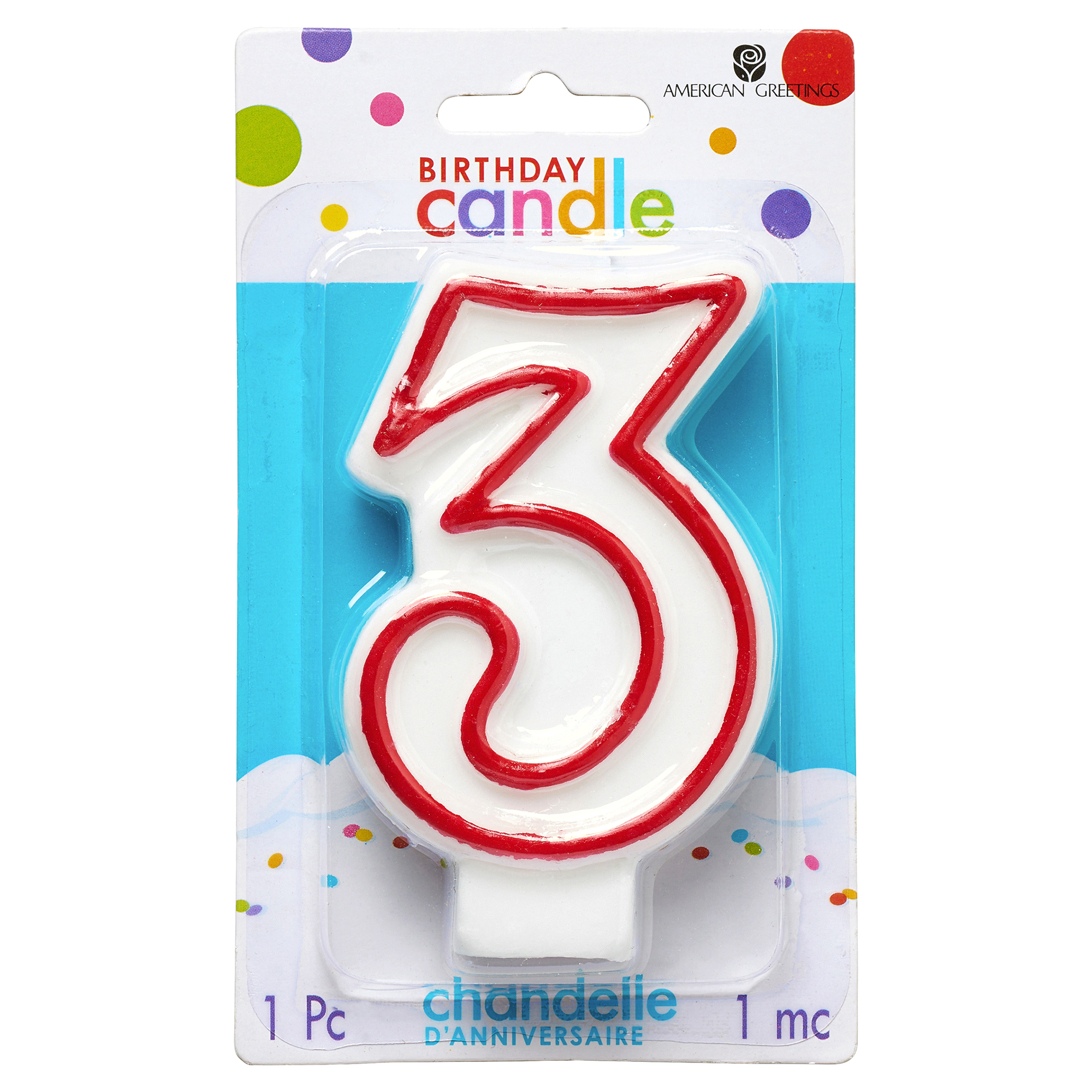 Number 3 Birthday Candle Party Supplies Meijer