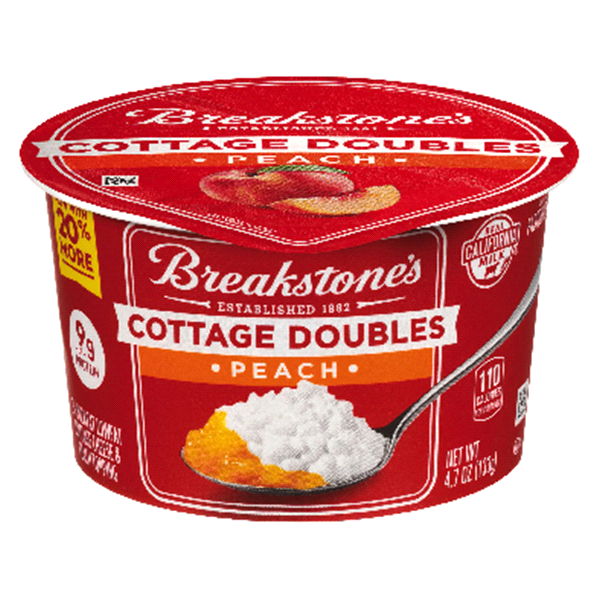 Breakstones Cottage Doubles Peach Cheese 47 Oz Cup