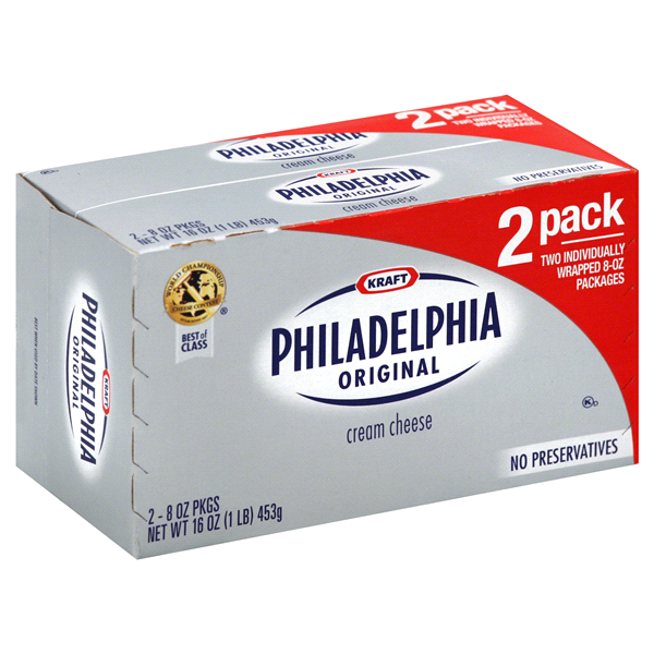 Image result for philadelphia cream cheese two