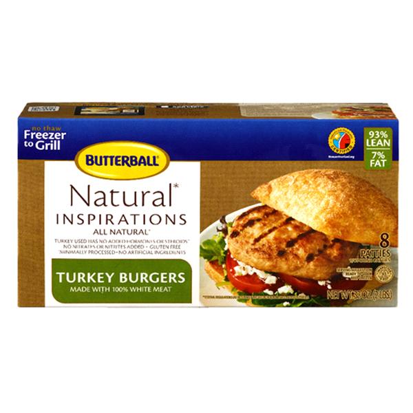 Butterball Turkey Burgers All Natural White Turkey 32 Oz Meijer