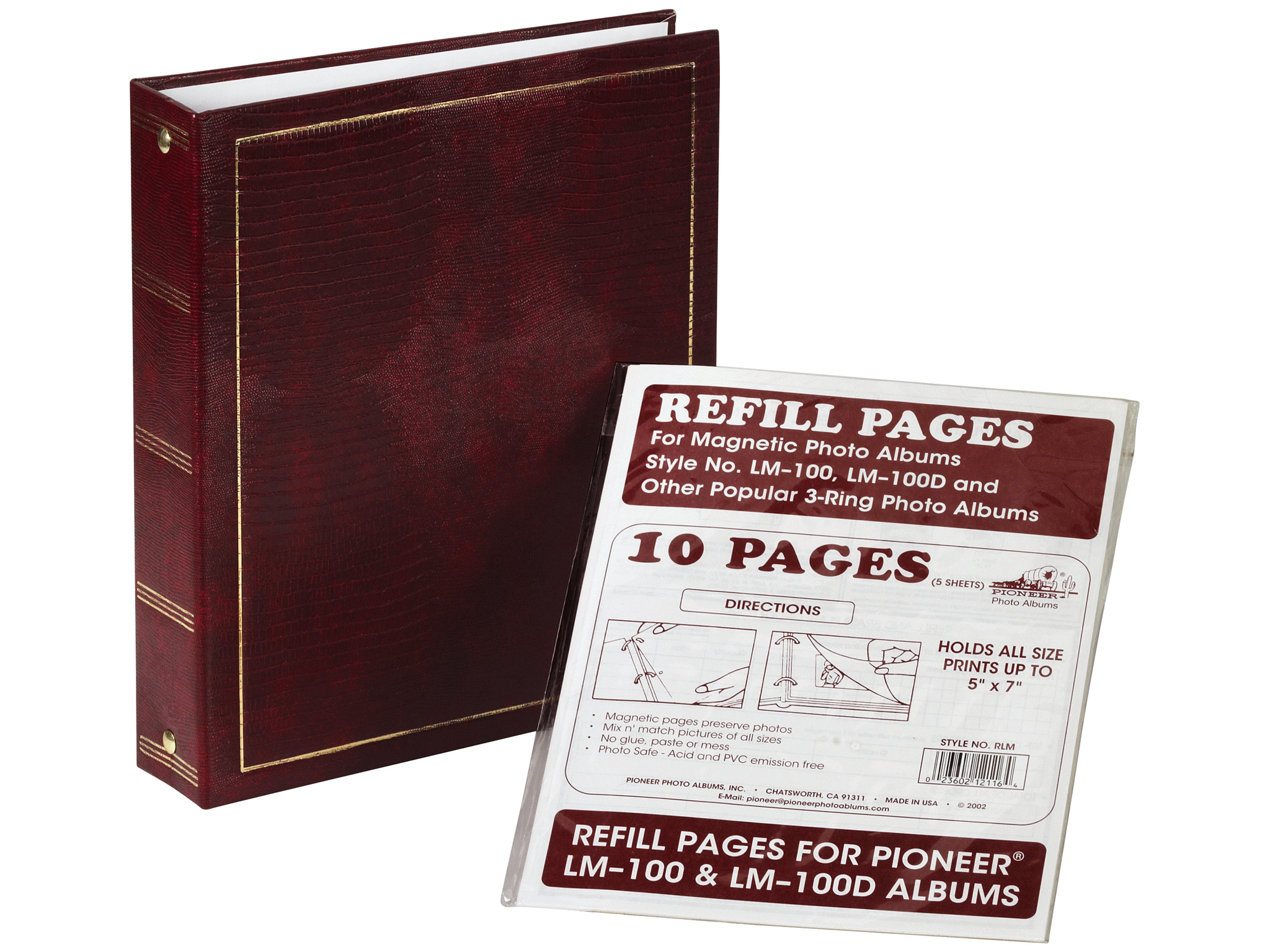 Pioneer Lm 100 Magnetic Refill Pages5 Sheets Meijercom