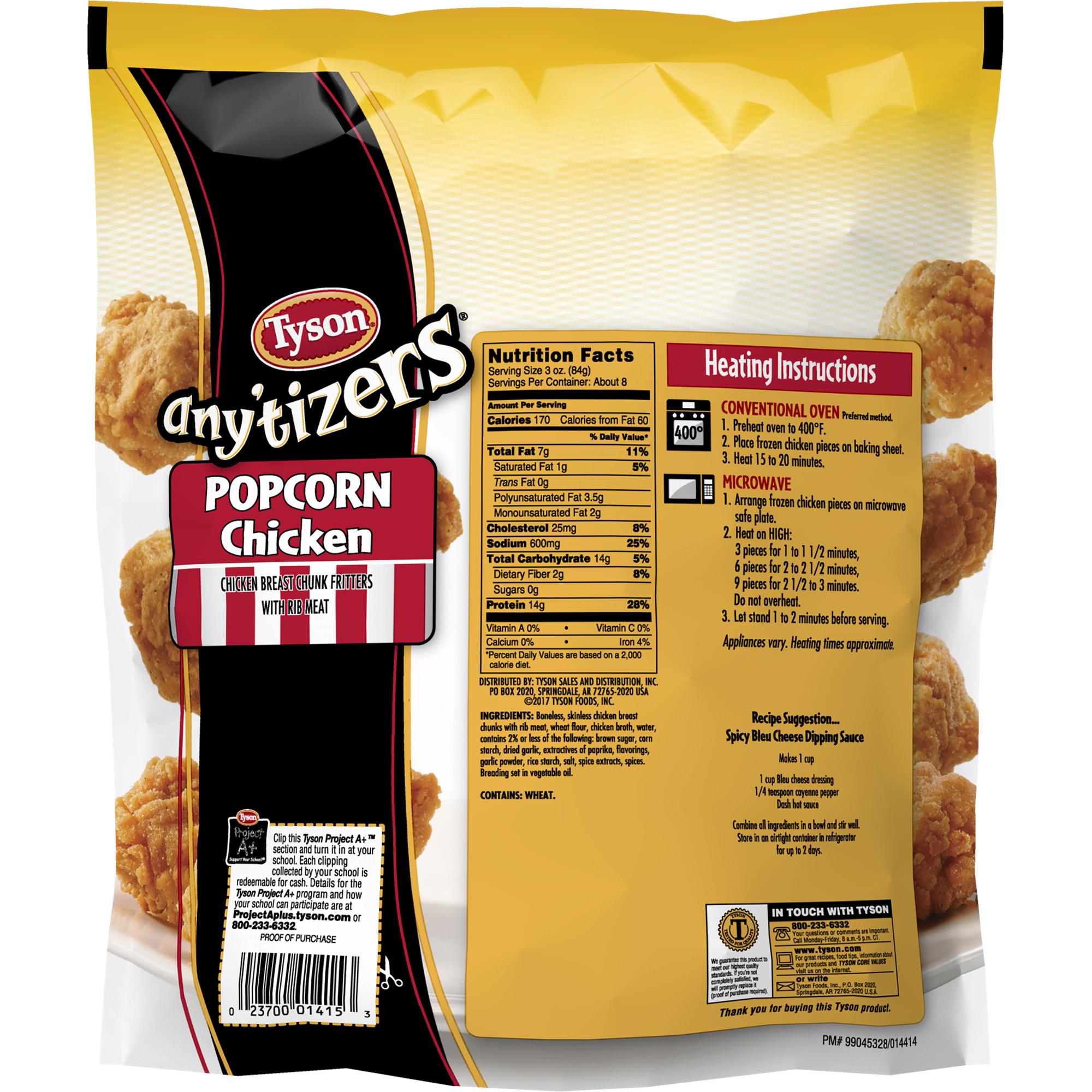 tyson anytizers popcorn chicken 24 oz. (frozen) | meijer