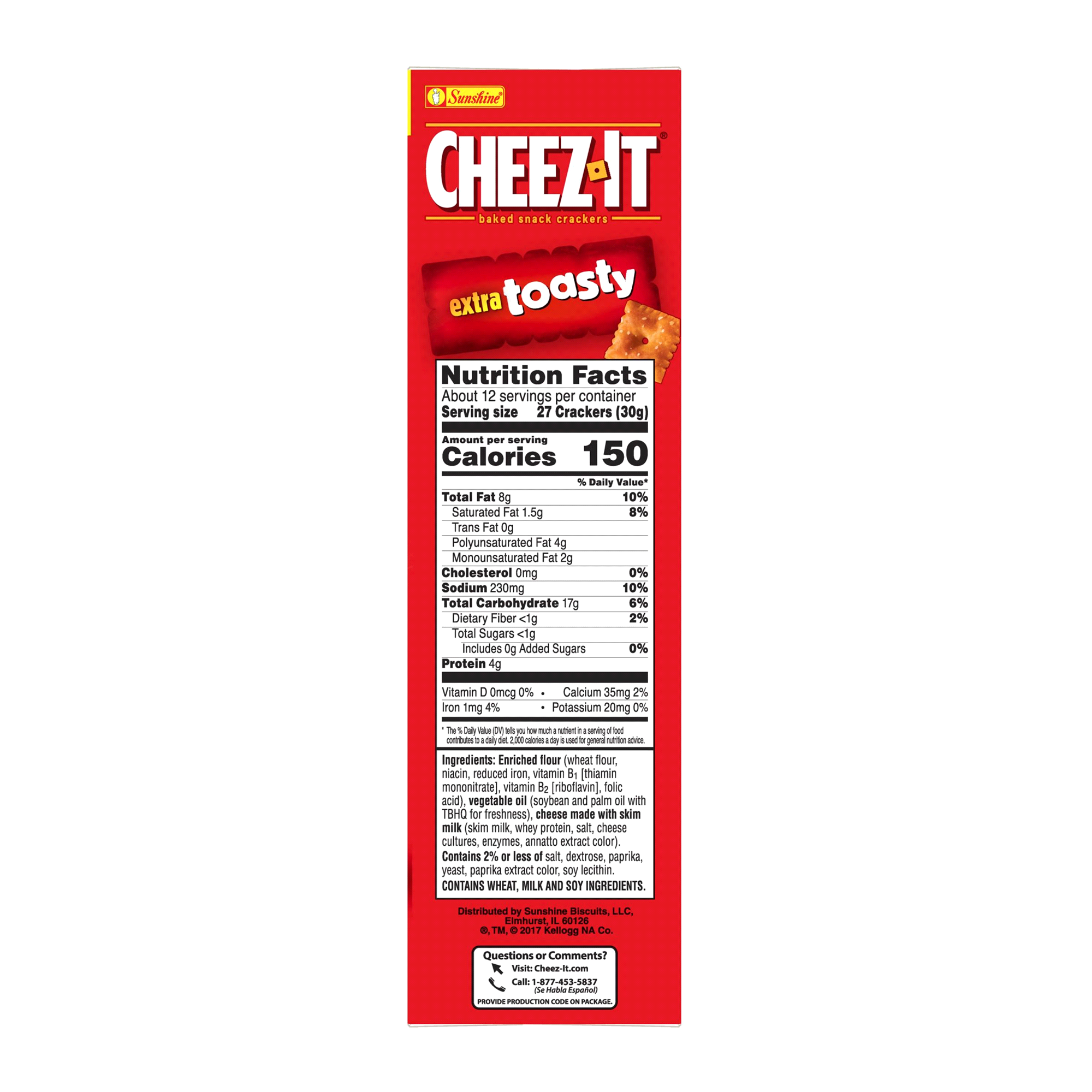 cheez-it extra toasty 12.4 oz | meijer