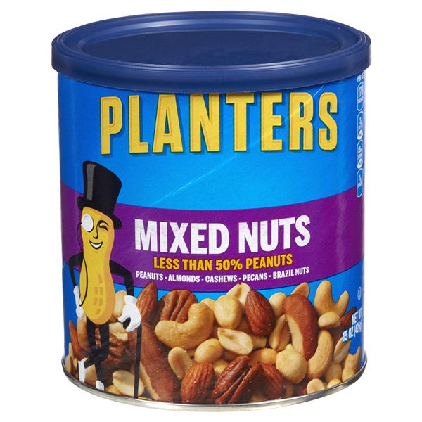 Planters Mixed Nuts 15 oz Can | Meijer.com on illuminati planters nuts, seasonal planters nuts, planters cashews, planters tube nuts, planters cocoa almonds walmart, planters big nut bars, walgreens nice nuts, planters macadamia nuts, planters deluxe nuts, planters peanuts, planters dry roasted, planters holiday nuts, planters nuts and chocolate, planters beer nuts, d's nuts, planters holiday 3-pack, planters energy mix nuts, men's health planters nuts, planters nutmobile, planters roasted almonds,