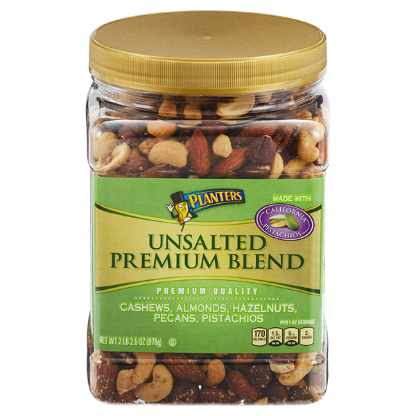 Planters Unsalted Premium Blend 34.5 oz Jar | Meijer.com on planters mixed nuts tin, planters salted mixed nuts, planters mixed nuts ingredients, planters roasted mixed nuts,