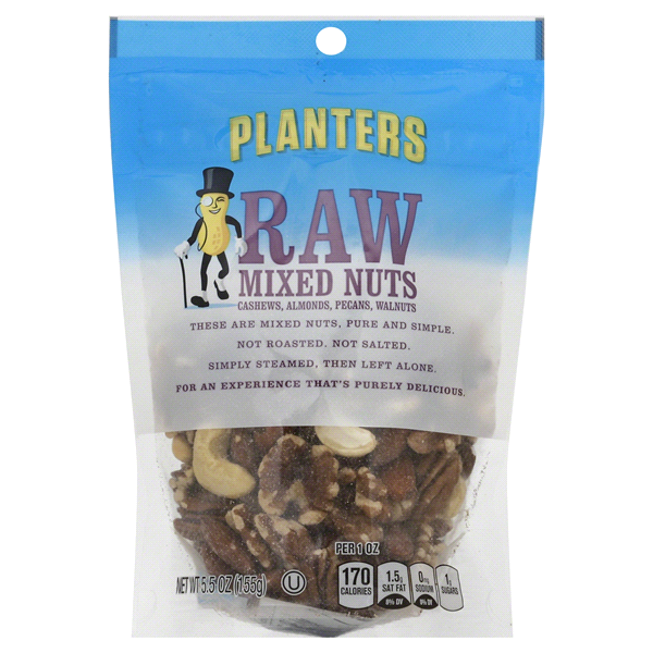 Planters Raw Mixed Nuts 5.5 oz Pouch | Meijer.com on planters roasted almonds, illuminati planters nuts, planters beer nuts, planters big nut bars, walgreens nice nuts, planters tube nuts, planters nutmobile, planters cashews, d's nuts, planters deluxe nuts, planters macadamia nuts, planters holiday 3-pack, planters holiday nuts, planters peanuts, men's health planters nuts, planters energy mix nuts, planters dry roasted, planters cocoa almonds walmart, seasonal planters nuts, planters nuts and chocolate,