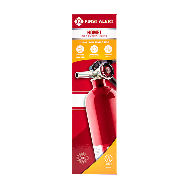 First Alert HOME1 Multi Purpose Home Fire Extinguisher Red