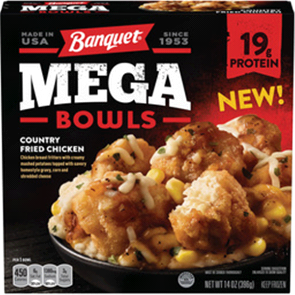 Banquet Mega Bowls Country Fried Chicken 14 oz