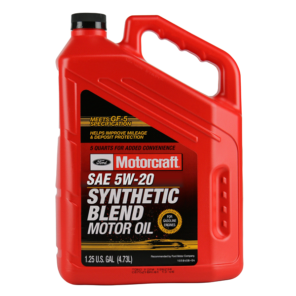 Synthetic Blend Oil >> Motorcraft Synthetic Blend Oil 5w20 5 Quart Meijer Com