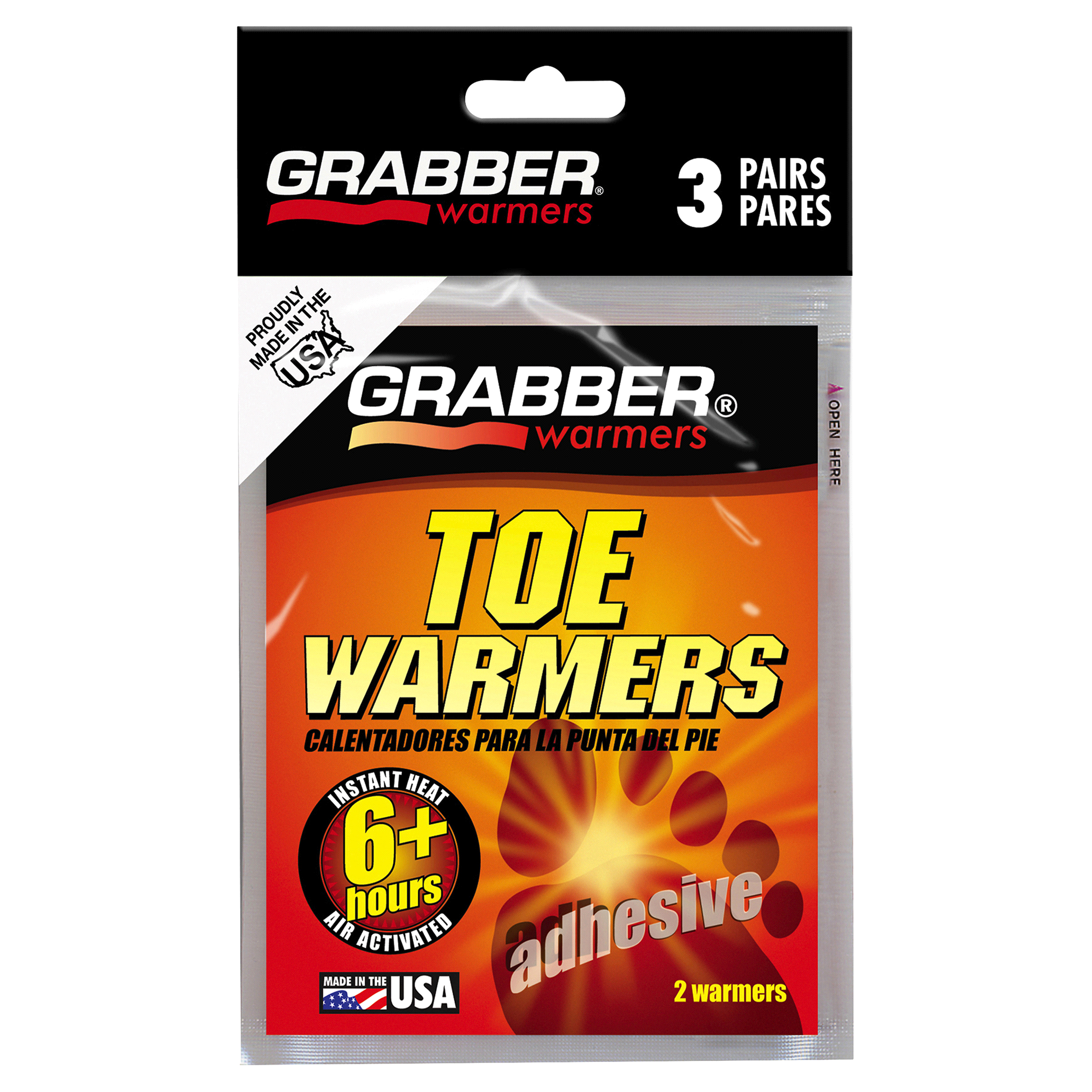 grabber warmers toe warmer multi pack 6 hour
