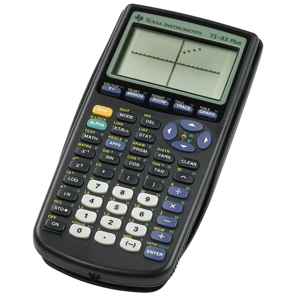 Texas instruments ti-84 plus graphing calculator graphic.