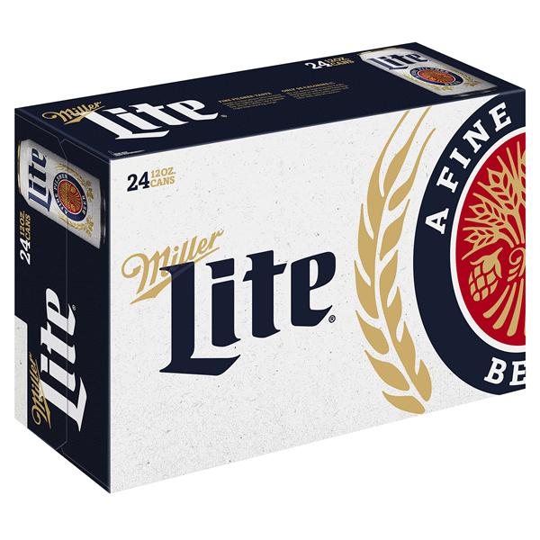 5a6bf6308b1 Miller Lite Lager Beer 24 Pack 12 fl. oz. Cans 4.2% ABV