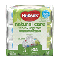 d7806fc7e HUGGIES® Natural Care® Baby Wipes 3 Soft Packs - 168 ct