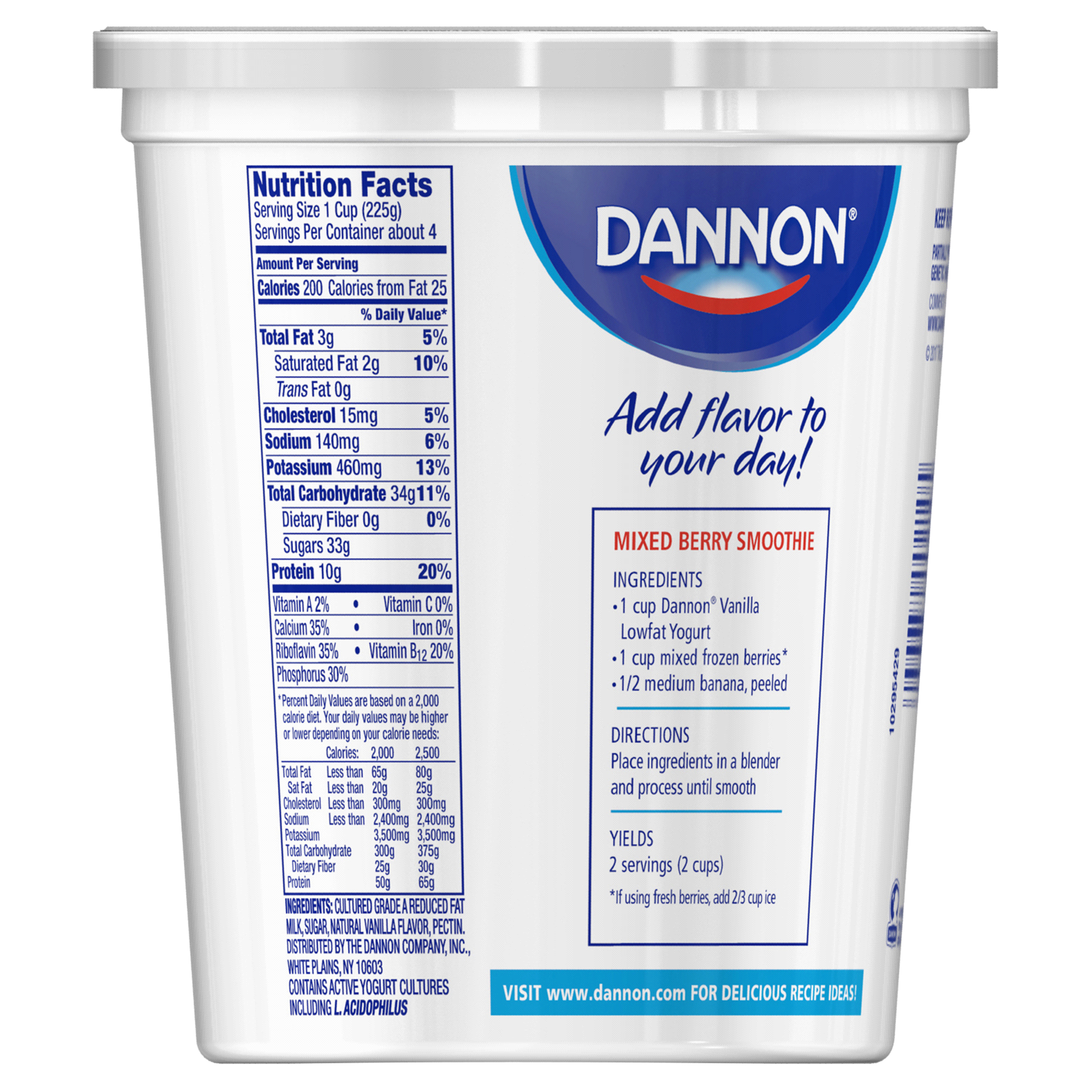 Activia Yogurt Nutrition Facts Vanilla Blog Dandk