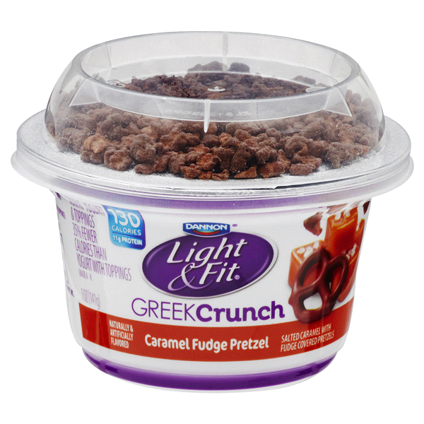 Dannon Light U0026 Fit Salted Caramel Chocolate Pretzel Greek Yogurt Crunch 5 Oz