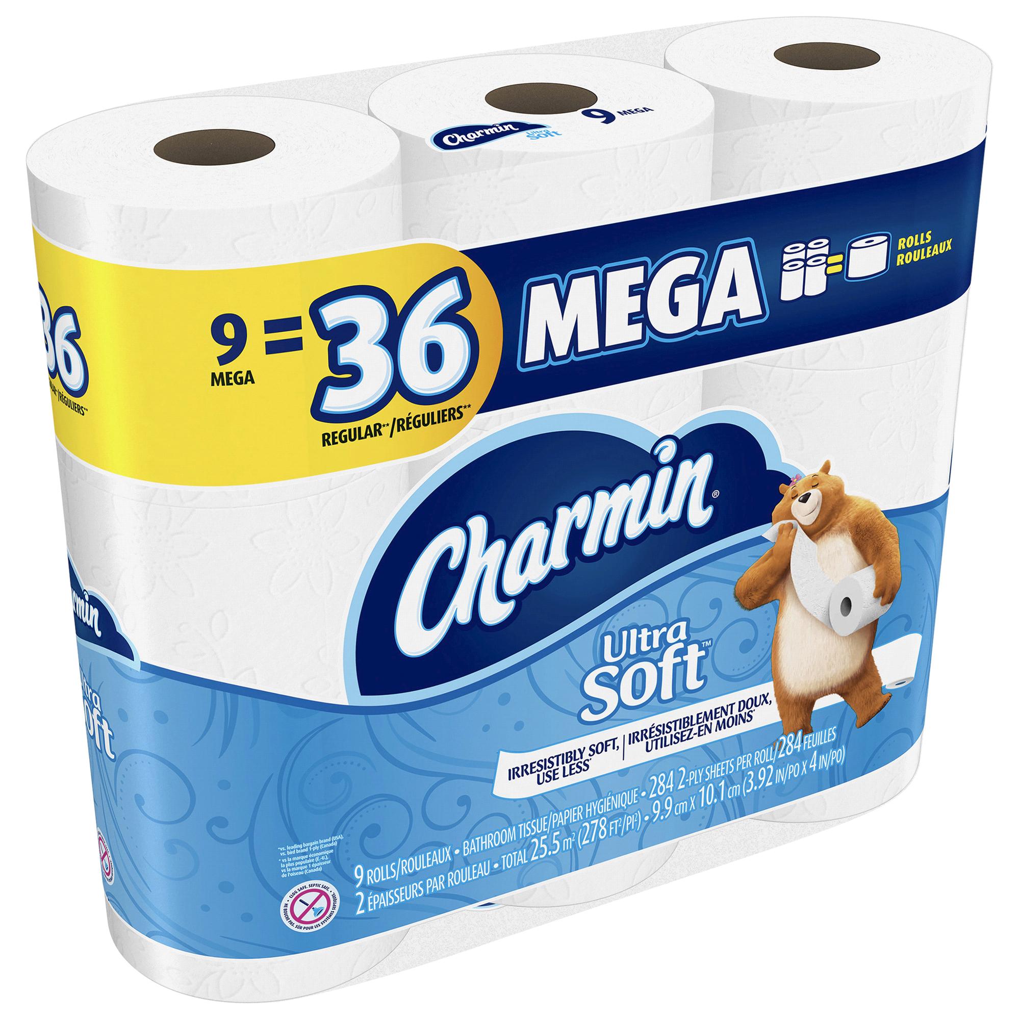 Charmin Ultra Soft Toilet Paper 9 Mega Rolls | Meijer.com