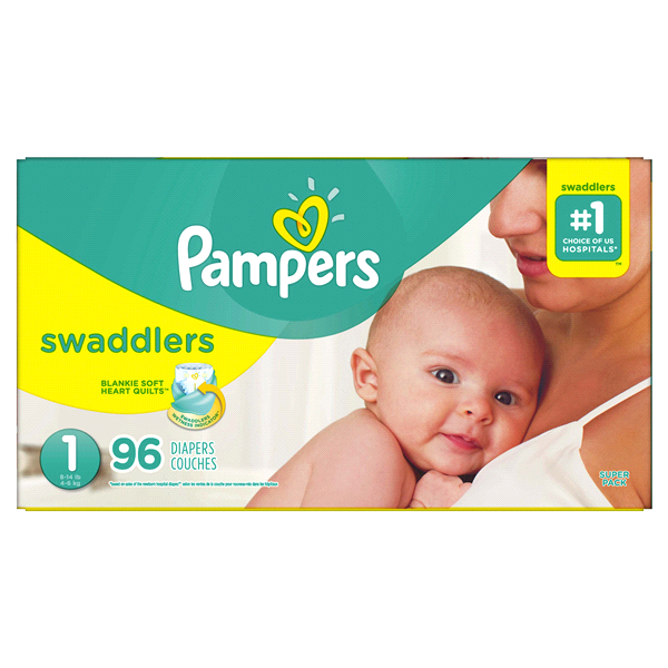 b8d584440 Pampers Swaddlers Newborn Diapers Size 1 96 Count