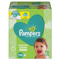 7605667ae Pampers Baby Wipes Complete Clean Unscented 10X Refill 720 Count