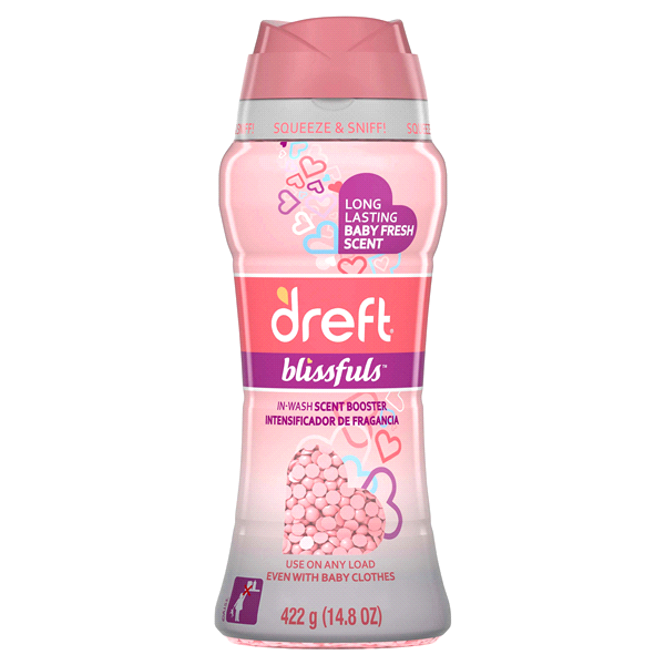 Dreft Blissfuls In-Wash Scent Booster Beads Baby Fresh 14.8 oz ...