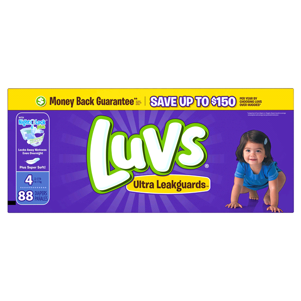 81b7c265d6a34 Luvs Ultra Leakguards Diapers Size 4 88count