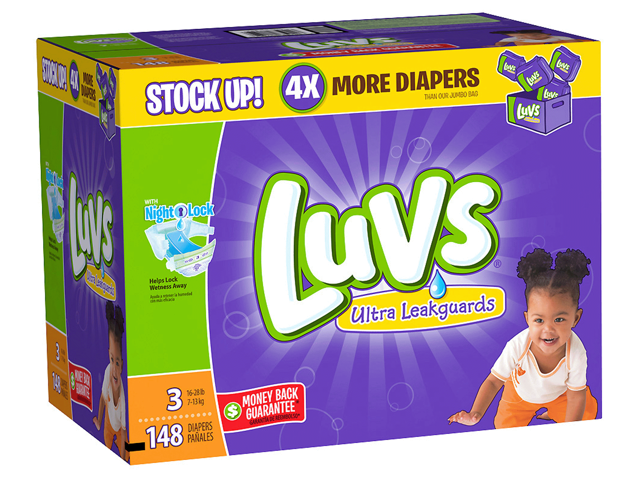 Luvs with Ultra Leakguards Size 3 - 148 ct | Meijer.com