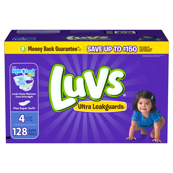 d0f327b9ed4bd Luvs Ultra Leakguards Diapers Size 4 128 count