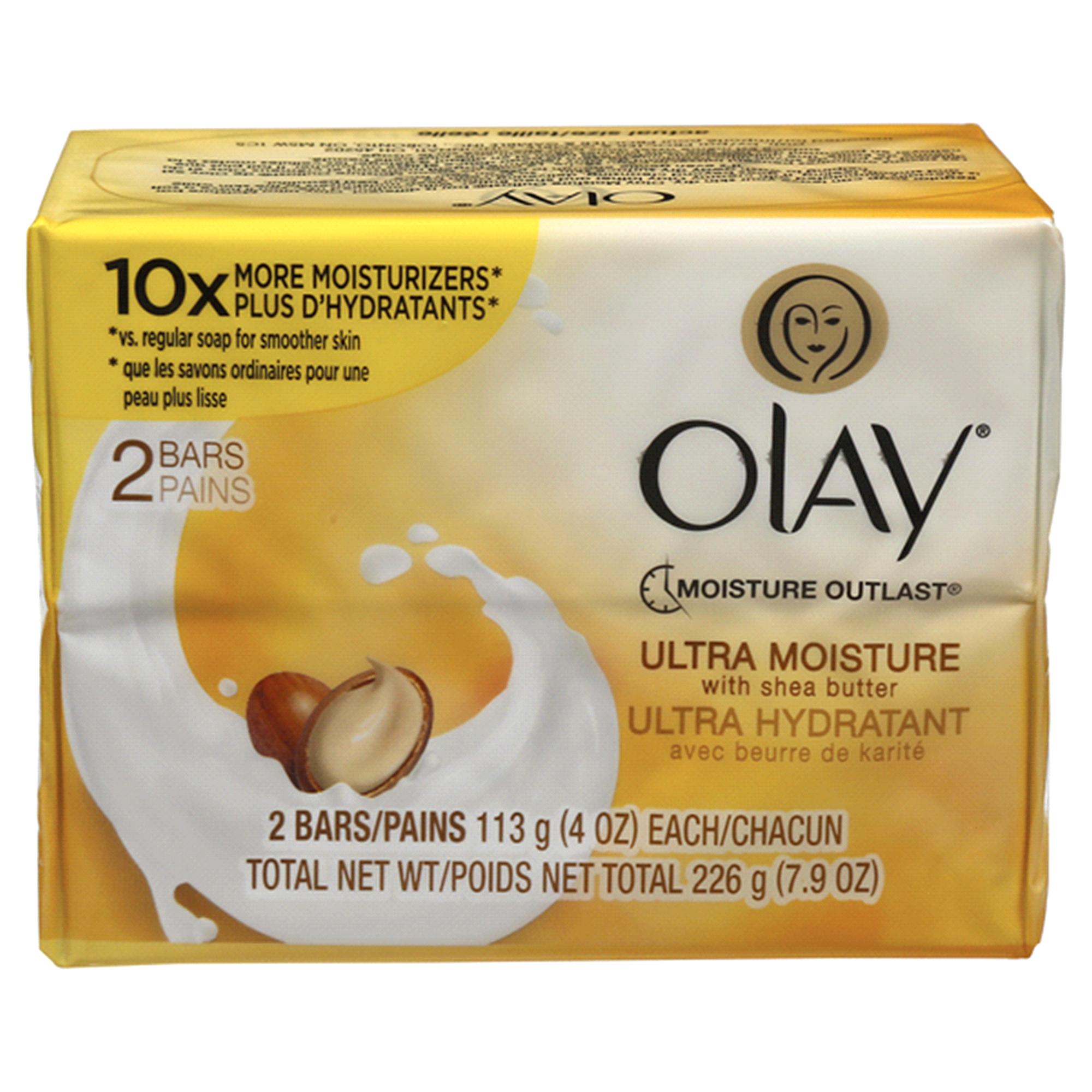 Olay Ultra Moisture Beauty Bar Soap with Shea Butter 4 oz 2 Bars |  Meijer.com